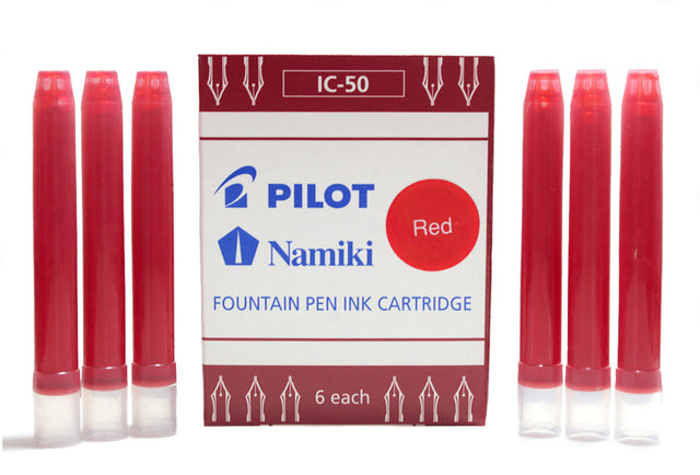 BOX OF 6 PILOT NAMIKI RED INK 0.90ML CARTRIDGES OFFERED BY ANTIQUE DIGGER