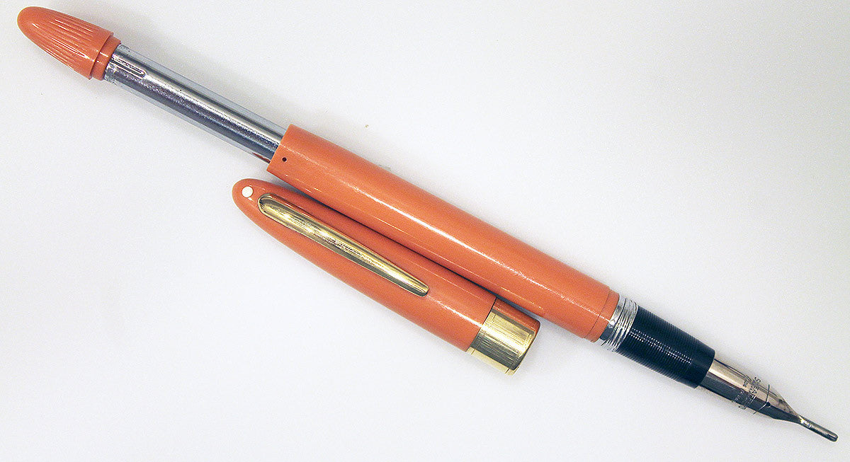 Vintage Sheaffer Snorkel Fountain Pen Mandarin Orange Color
