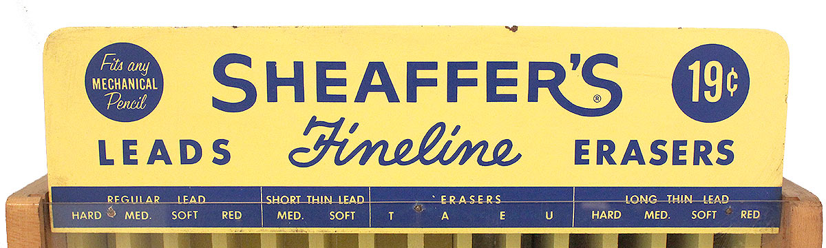 CIRCA 1960s SHEAFFER ADVERTISING COUNTERTOP STORE DISPLAY CASE OFFERED BY ANTIQUE DIGGER