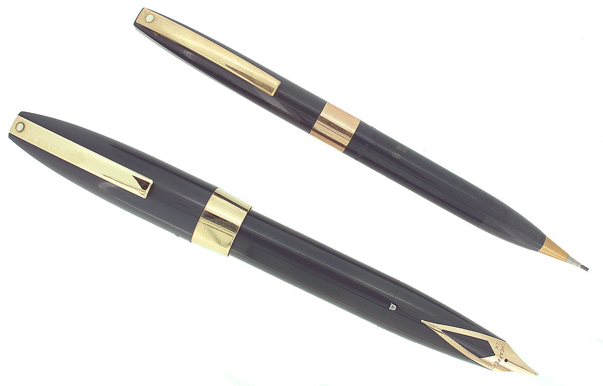 CIRCA 1959 SHEAFFER PFM PFM III FOUNTAIN PEN & PENCIL SET ORIGINAL BOX NEAR MINT OFFERED BY ANTIQUE DIGGER