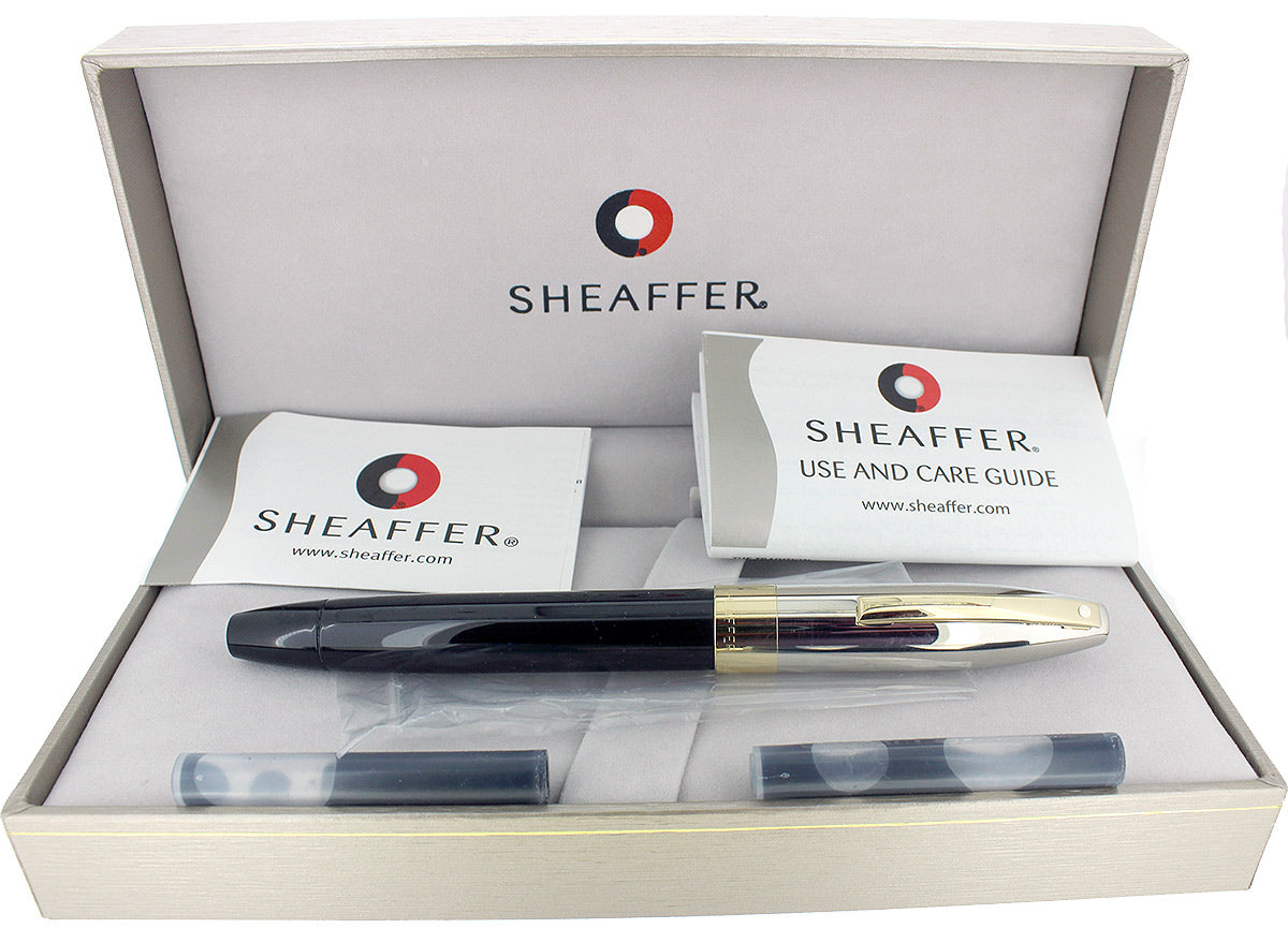 SHEAFFER LEGACY 2 FOUNTAIN PEN PALLADIUM CAP 18K MED NIB MINT IN BOX NEVER INKED OFFERED BY ANTIQUE DIGGER