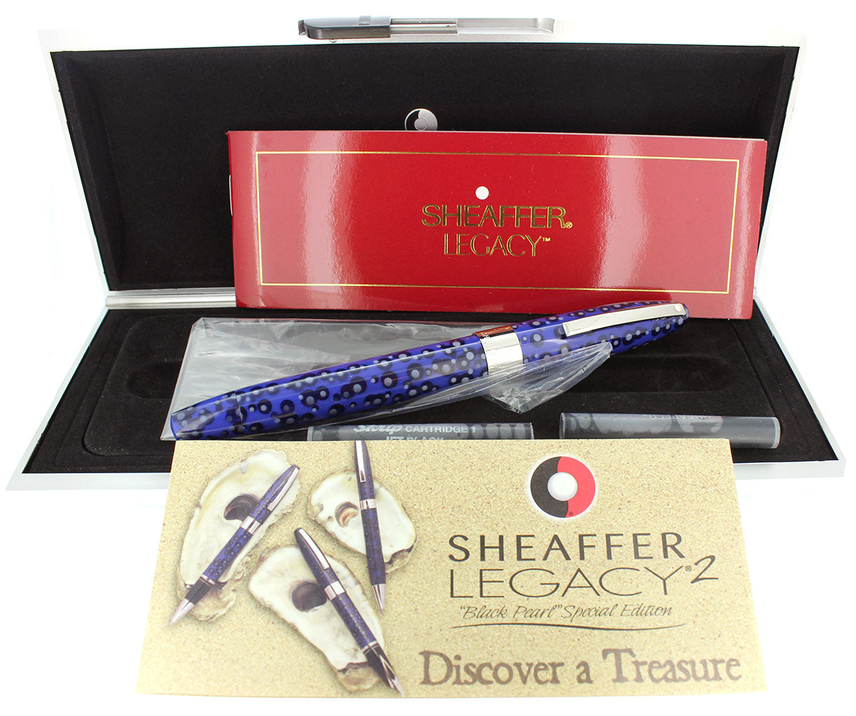 SHEAFFER LEGACY 2 BLACK PEARL SPECIAL EDITION FOUNTAIN PEN NEVER INKED NOS OFFERED BY ANTIQUE DIGGER