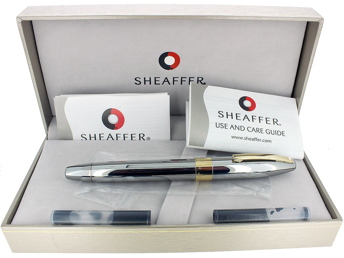 SHEAFFER LEGACY 2 GUNMETAL GRAY FOUNTAIN PEN 18K MED NIB MINT IN BOX NEVER INKED OFFERED BY ANTIQUE DIGGER
