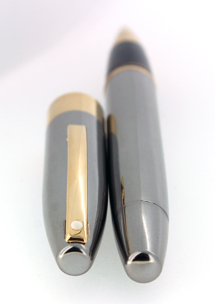 SHEAFFER LEGACY 2 POLISHED GUNMETAL W/ 23K GOLD TRIM ROLLERBALL PEN NOS UNUSED OFFERED BY ANTIQUE DIGGER