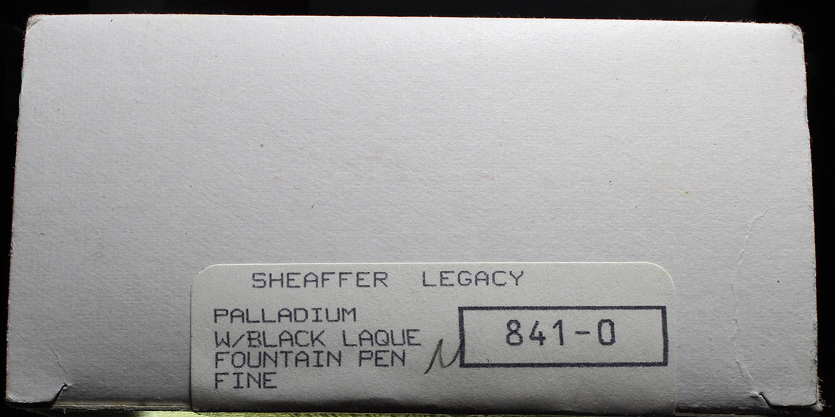 SHEAFFER LEGACY FOUNTAIN PEN PALLADIUM CAP 18K FINE NIB MINT IN BOX, NEVER INKED OFFERED BY ANTIQUE DIGGER