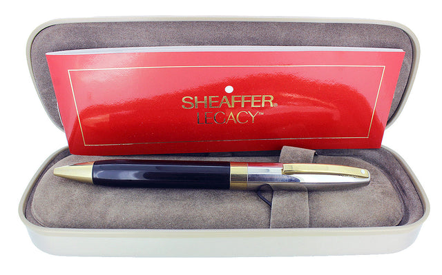 CIRCA 1999 SHEAFFER LEGACY BLACK LAQUE & PALLADIUM CAP BALLPOINT PEN OFFERED BY ANTIQUE DIGGER
