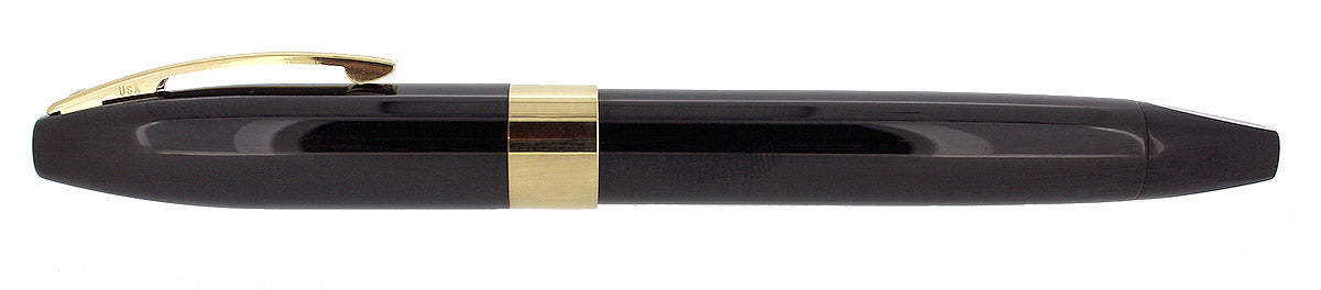 SHEAFFER LEGACY BLACK LAQUE FOUNTAIN PEN 18K SIGNATURE STUB NIB NEVER INKED NOS OFFERED BY ANTIQUE DIGGER