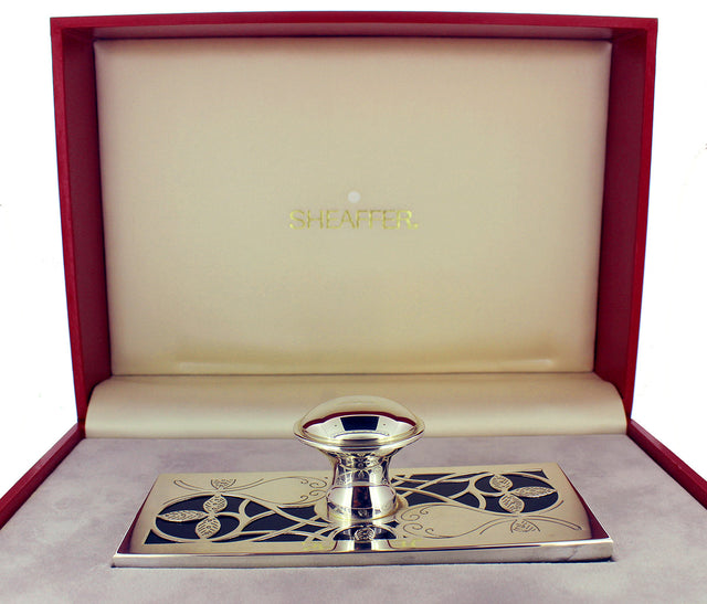 C1992 SHEAFFER NOSTALGIA STERLING SILVER ROCKER BLOTTER NEW IN BOX NEW OLD STOCK OFFERED BY ANTIQUE DIGGER