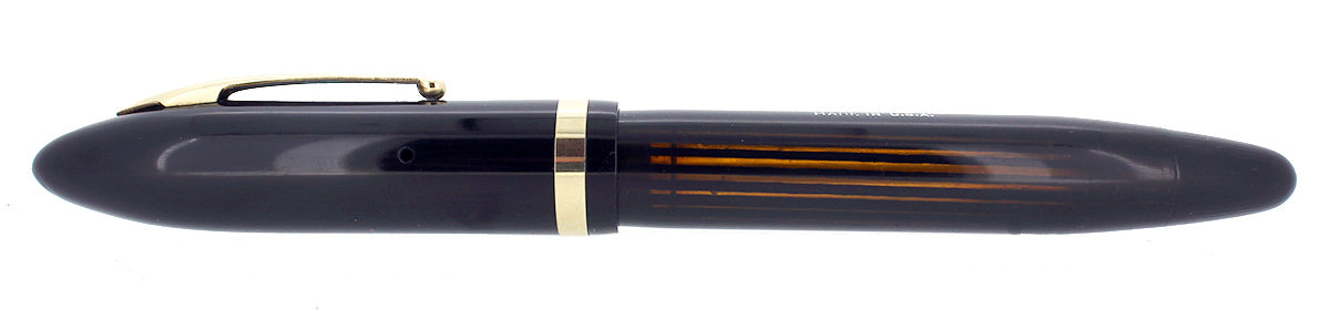 CIRCA 1938 SHEAFFER OVERSIZE JET BLACK BALANCE FOUNTAIN PEN PLUNGER FILL RESTORED OFFERED BY ANTIQUE DIGGER
