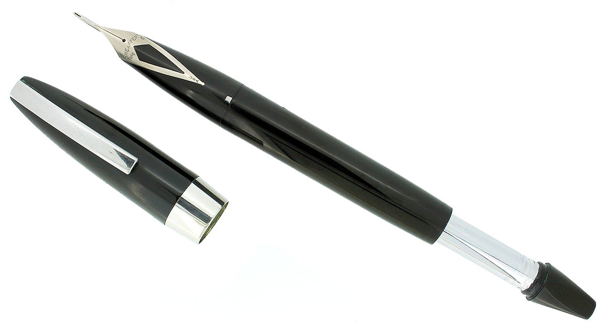 CIRCA 1959 SHEAFFER BLACK PFM I PEN FOR MEN FOUNTAIN PEN 14K EXTRA FINE NIB RESTORED OFFERED BY ANTIQUE DIGGER