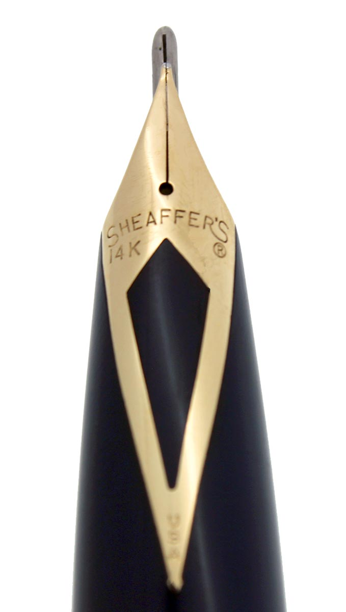CIRCA 1959 SHEAFFER BLUE PFM V SNORKEL PEN FOR MEN FOUNTAIN PEN RESTORED OFFERED BY ANTIQUE DIGGER
