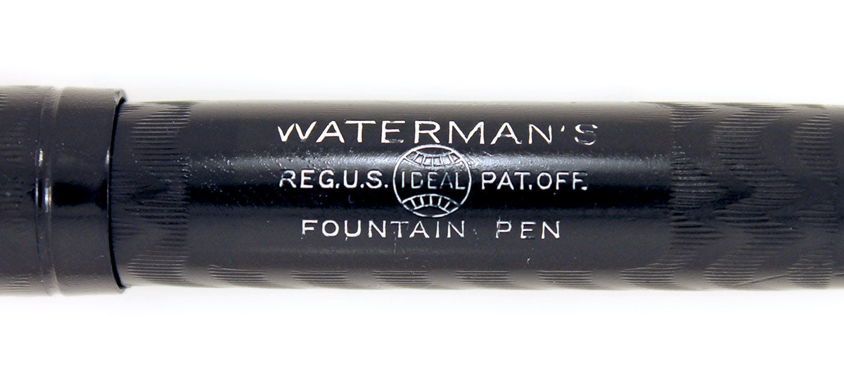 1920s WATERMAN 52V BCHR FOUNTAIN PEN NICKEL TRIM F to BBB+ FLEX NIB RESTORED OFFERED BY ANTIQUE DIGGER