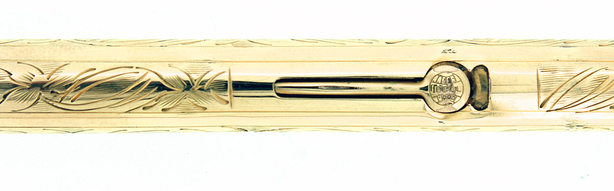 C1925 WATERMAN 18K G.F. 0552 1/2 LEC PANSY PANEL M-BBB NIB FOUNTAIN PEN RESTORED OFFERED BY ANTIQUE DIGGER