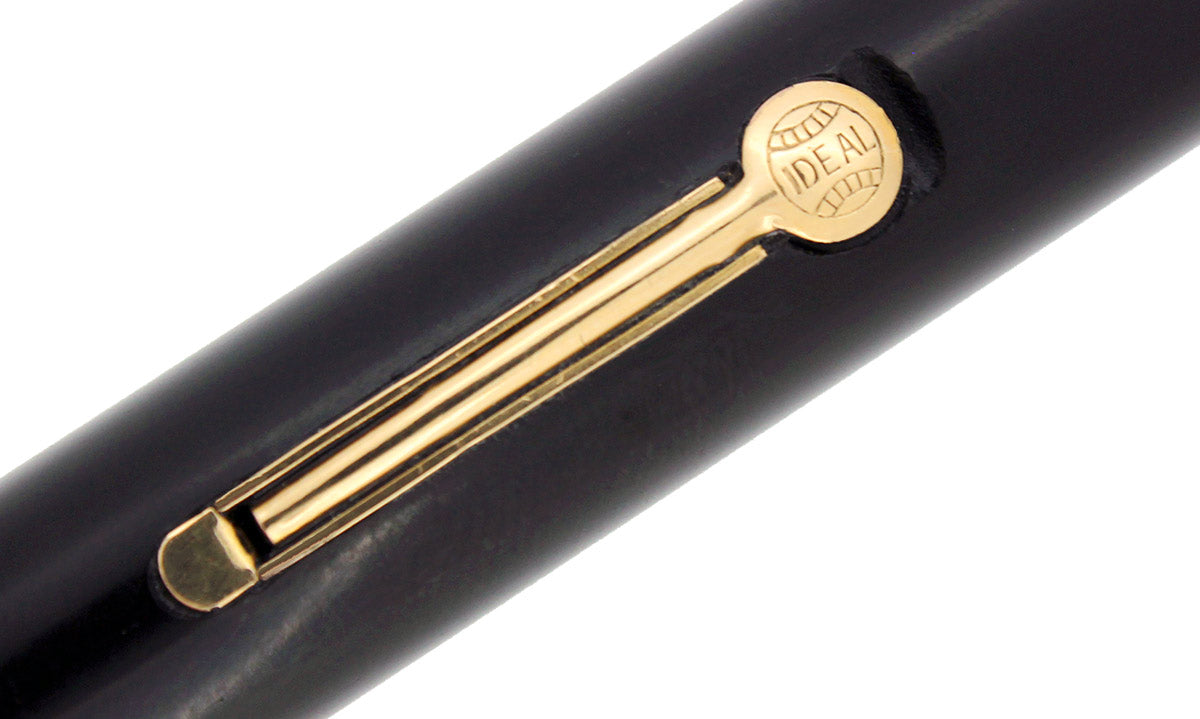 1920S WATERMAN #55 BLACK HARD RUBBER RUBBER FOUNTAIN PEN M-BBB 14K NIB RESTORED OFFERED BY ANTIQUE DIGGER