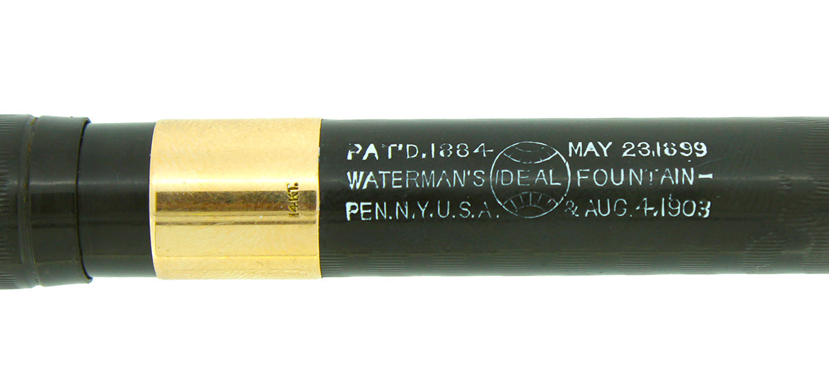 RESTORED CIRCA 1916 WATERMAN #15 PSF BCHR FOUNTAIN PEN 14K TRIM XF TO BBB+ FLEXIBLE NIB OFFERED BY ANTIQUE DIGGER