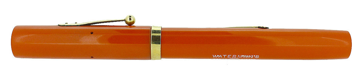 1920s WATERMAN #56 CARDINAL RED HARD RUBBER FOUNTAIN PEN RESTORED OFFERED BY ANTIQUE DIGGER