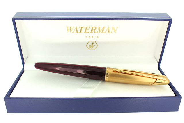 1990S WATERMAN EDSON RUBY RED ROLLERBALL PEN MINT CONDITION OFFERED BY ANTIQUE DIGGER