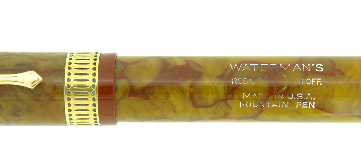 LATE 1920s WATERMAN PATRICIAN ONYX FOUNTAIN PEN XF - M NIB RESTORED OFFERED BY ANTIQUE DIGGER