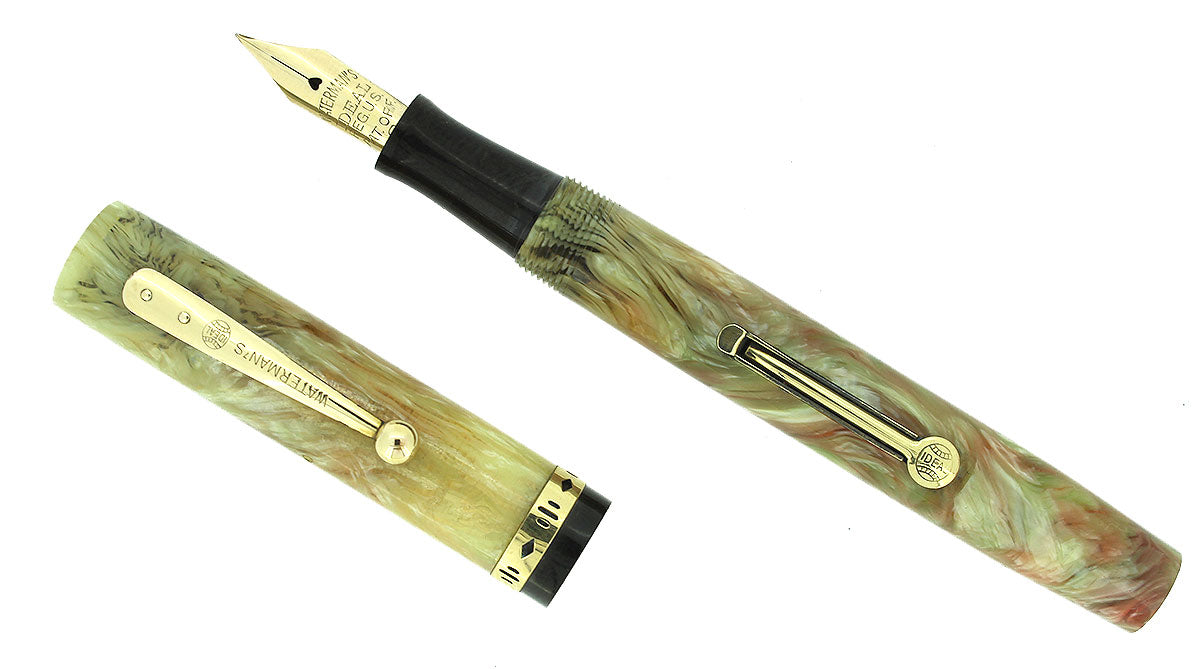 CIRCA 1932 WATERMAN 52V PERSIAN CELLULOID FOUNTAIN PEN MINT CONDITION NEVER INKED OFFERED BY ANTIQUE DIGGER