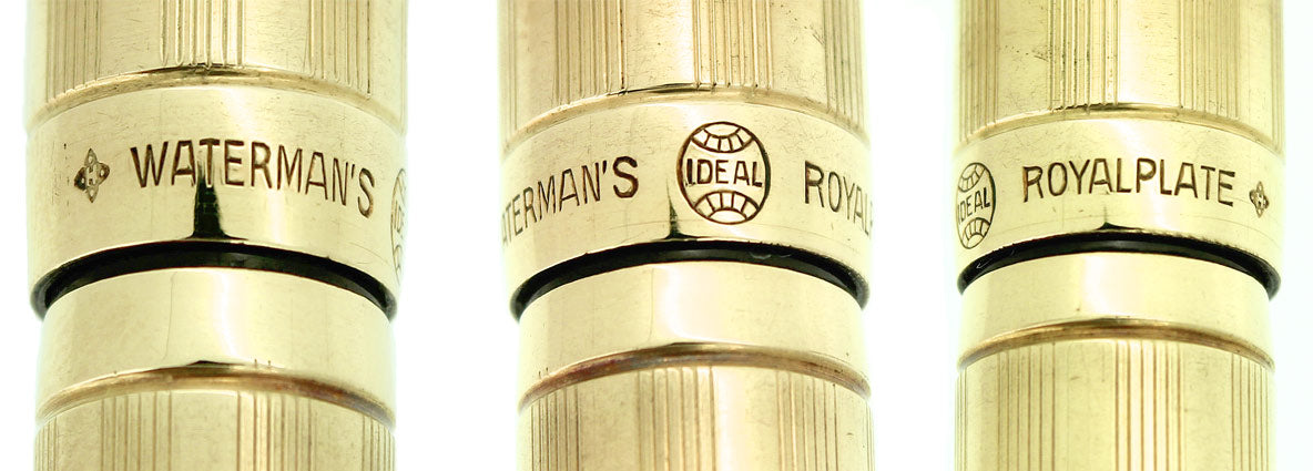 1930S WATERMAN 54 SHERATON 18K GOLD FILLED OVERLAY SPANISH IMPORT MARK FOUNTAIN PEN RESTORED OFFERED BY ANTIQUE DIGGER