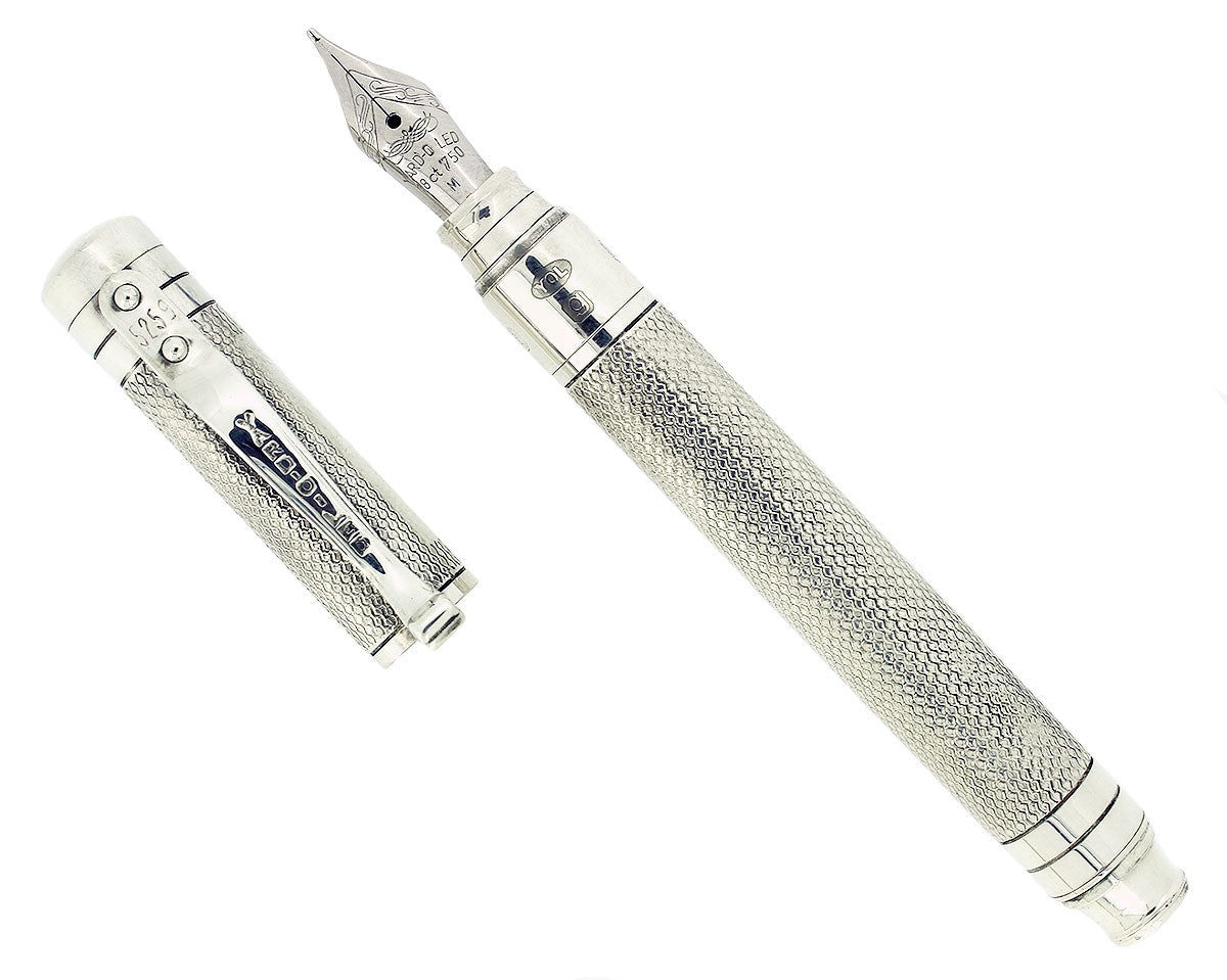 YARD-O-LED VICEROY STERLING SILVER BARLEY PATTERN FOUNTAIN PEN MINT IN BOX NOS OFFERED BY ANTIQUE DIGGER