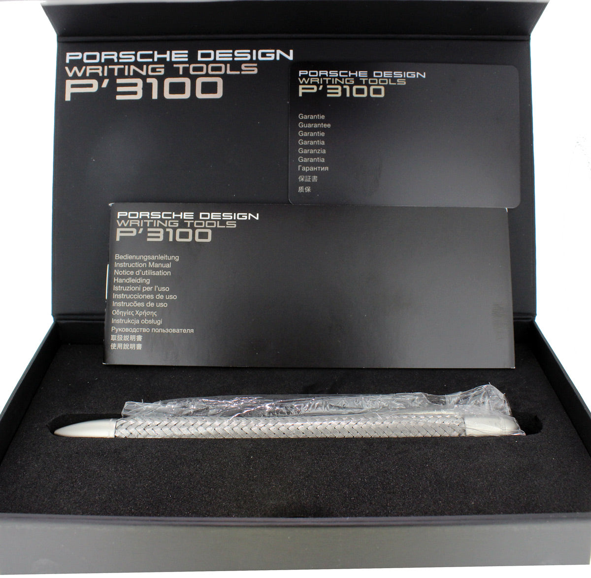 NEW IN BOX PORSCHE DESIGN P3110 MECHANICAL PENCIL STEEL BRAID BY PELIKAN OFFERED BY ANTIQUE DIGGER