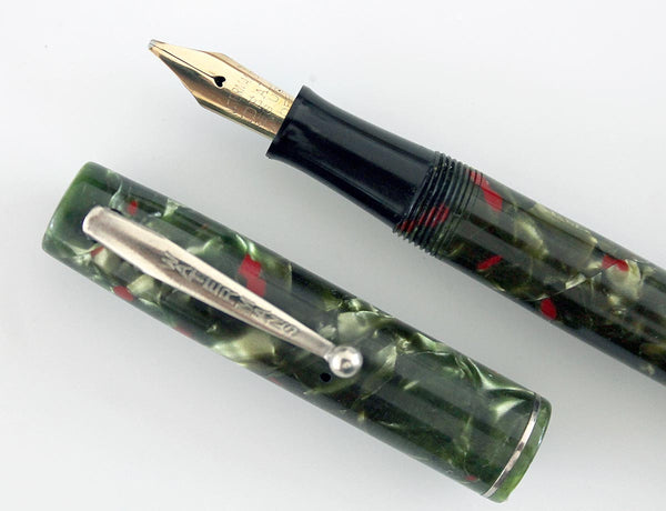 Restored 1930s Waterman 3 Fountain Pen Green And Red