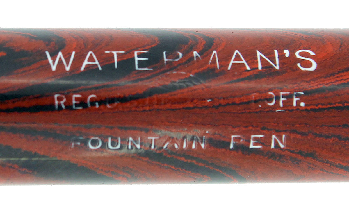 1920S WATERMAN 54 RED RIPPLE XF-BBB 2.06MM FLEX 14K NIB FOUNTAIN PEN RESTORED OFFERED BY ANTIQUE DIGGER