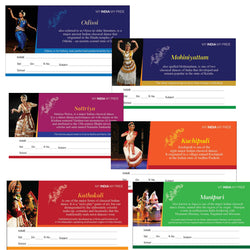 Infant Yogi - Classical Dance Forms of India, Indian Heritage Name Slips for School Note Books, 30 Nos Self Adhesive Name Slip Stickers