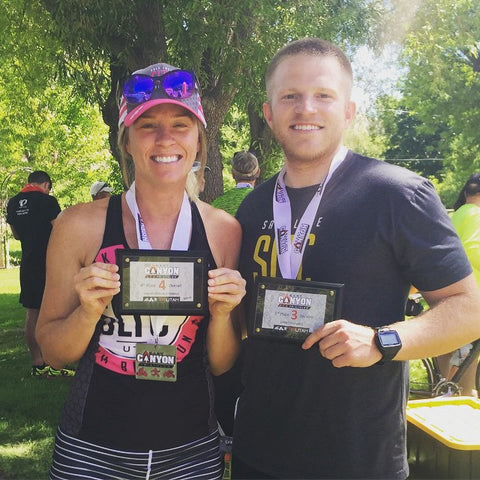 Robyn and Bradley Moore. Echo Canyon Tri 2015