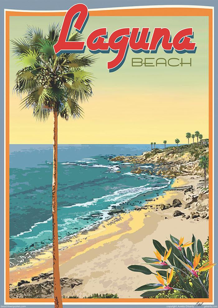 Beach Town Posters, Retro Art Deco and Vintage Posters by