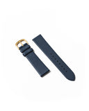 Premium Italian Leather Strap - Navy