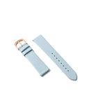 Premium Italian Leather Strap - Pale Blue