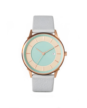 LW067-RoseGold.Beige/Turquoise.Grey