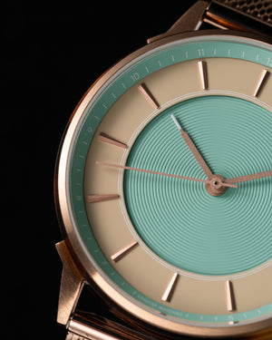 LW071-RoseGold.Beige/Turquoise.Mesh