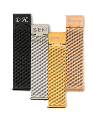 Premium Stainless Steel Mesh Strap - Gold