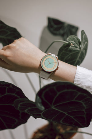LW070-RoseGold.Beige/Turquoise.Linio