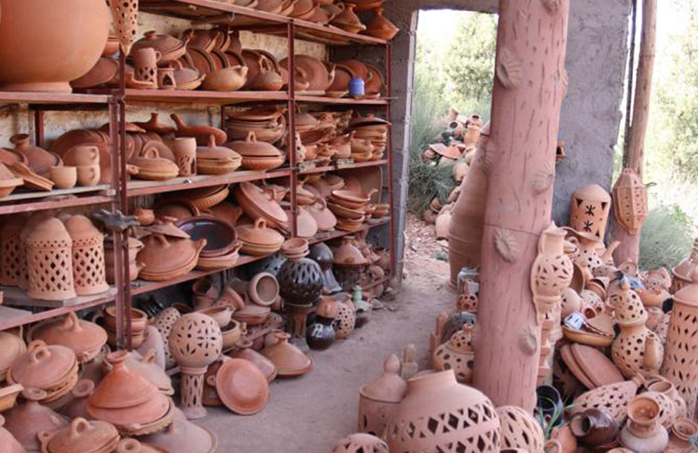 Clay pots in Marrakech