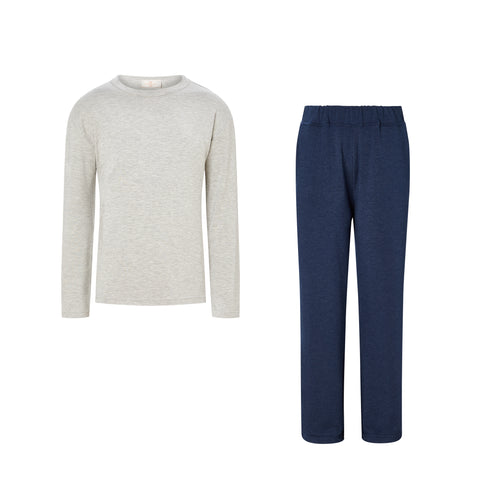 SET - Elbow Patch Pyjama Top/ Classic Trousers