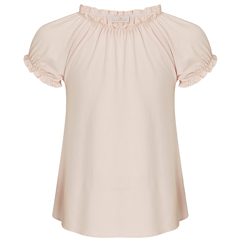 Girls Smock Top - Blush Pink