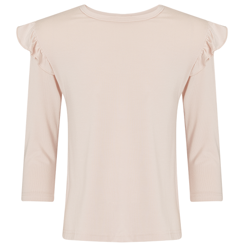 Girls Blush Pink Frill Top