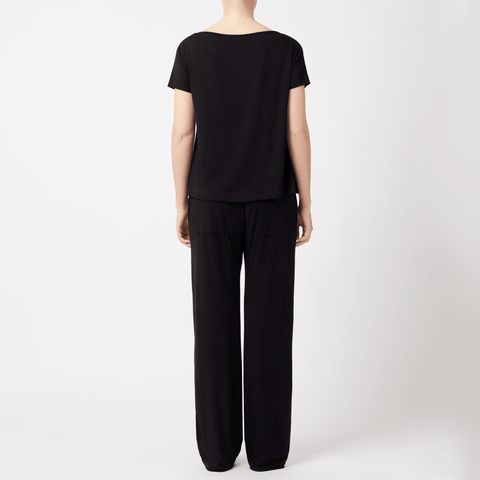 SET - Slash Neck T-shirt/ Drawstring Trousers