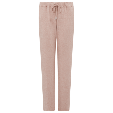 Jersey Lounge Boyfriend Drawstring Trousers - Pink Marl/Light Grey