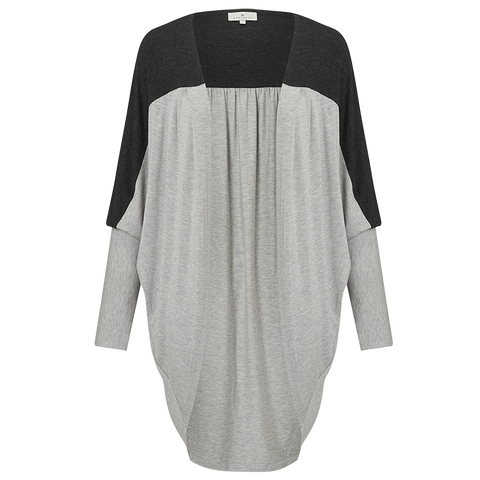 Lounging Layer Top - Light Grey/Charcoal