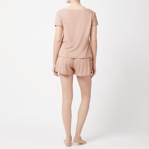 SET- V-Neck T-shirt/ Jersey Shorts Pyjama