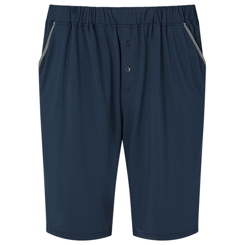 Contrast Pyjama Shorts - Pacific Navy/Mid Grey
