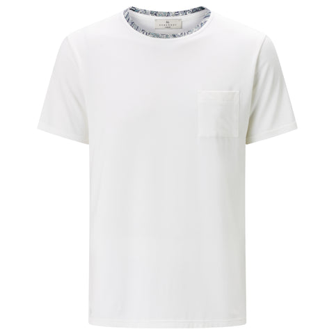 Classic Short Sleeve T-shirt - White/Liberty Print