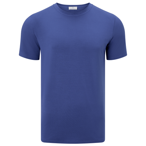 Short Sleeve Round Neck Jersey T-shirt - Indigo