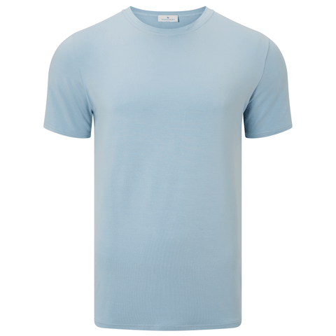 Short Sleeve Round Neck Jersey T-shirt - Marine