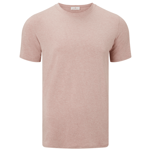 Short Sleeve Round Neck Jersey T-shirt - Pink Marl